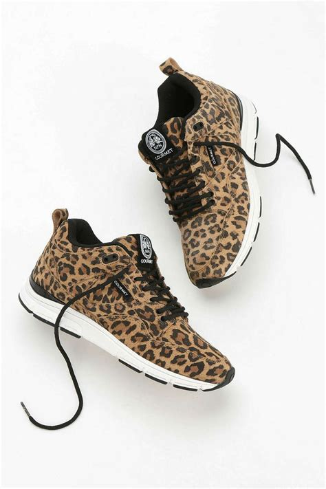 animal print athletic shoes gourmet animal print suede running sneaker