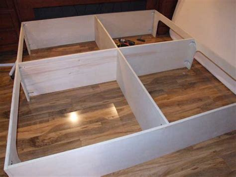 plywood platform bed how to build a platform storage bed for under 200