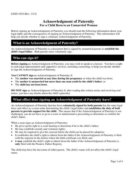 Acknowledgement Letter Paternity Paternity Affidavit Form 10 Free Templates In Pdf Word Excel