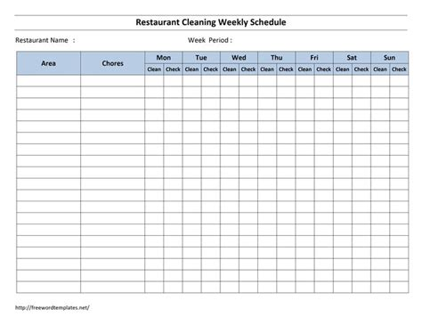 The 25 Best Cleaning Schedule Templates Ideas On Pinterest Weekly Cleaning Schedules Weekly Warehouse Cleaning Schedule Template Excel