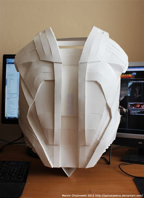 How To Make Iron Suit Out Of Paper - iron vi paper back armor by gaiuscassius on