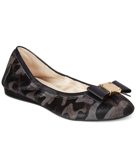 bow shoes flats lyst cole haan tali bow ballet flats in brown