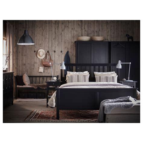 Hemnes King Bed Frame Hemnes Bed Frame Black Brown Leirsund 140x200 Cm Ikea