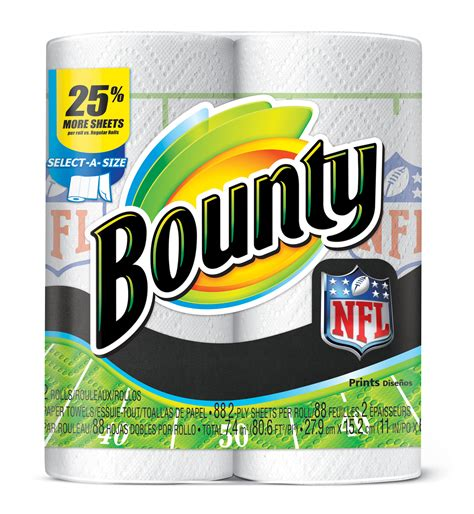 Who Makes Bounty Paper Towels - loving the bounty nfl prints stylish for