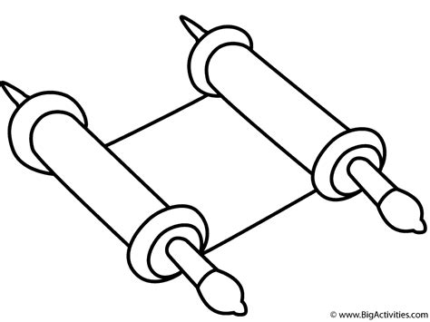 Scroll Writing On A Coloring Page Coloring Pages Scroll Coloring Page