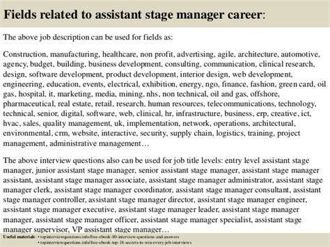 top 10 assistant stage manager questions and answers