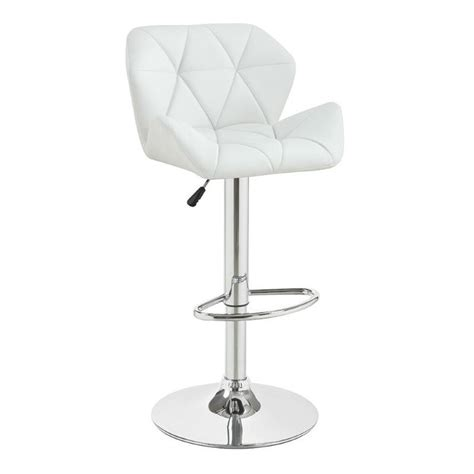 white adjustable counter stools coaster height adjustable bar stool in white 100424