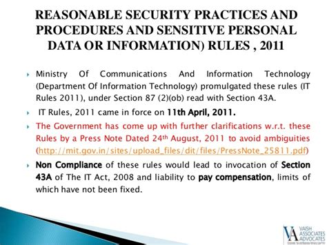 section 43a reasonable security practices and procedures and sensitive