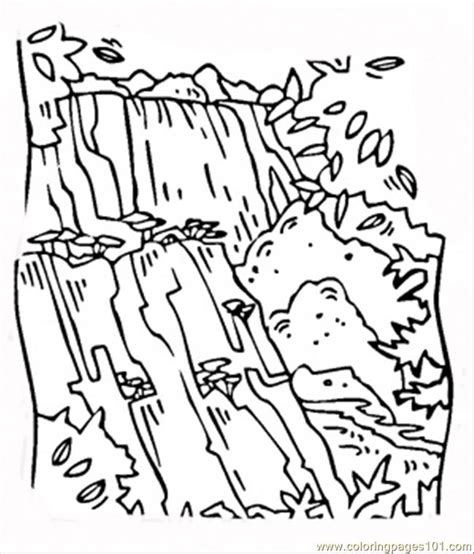 waterfall coloring pages free printable coloring pages
