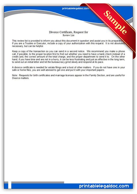 Browns Children Request Trustees Be Removed by Free Printable Divorce Certificate Request For Form Generic