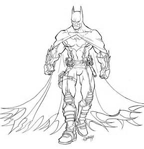 batman body coloring coloring pages