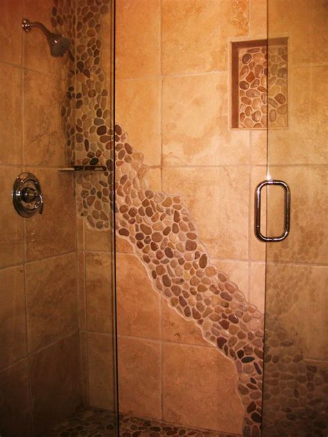 rock flooring bathroom only best 25 ideas about river rock shower on pinterest