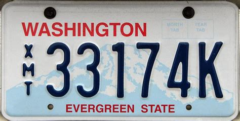 Vanity Plates Washington by Washington 3