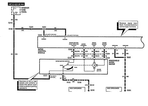 1994 ford econoline 250 wiring diagram of harnass for windshield