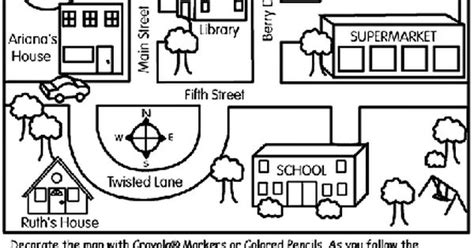 neighborhood map coloring page here s a simple neighborhood map coloring page