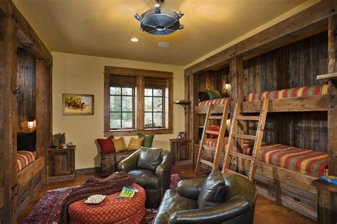 united states unique bunk beds bedroom rustic  ceiling