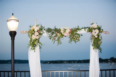 Wedding Arch Rental South Jersey by Classic Green Pink Altar Arch Arrangements New Jersey