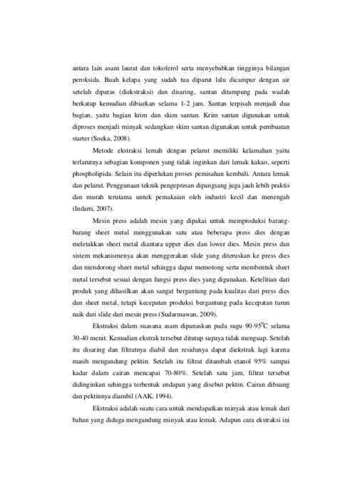laporan praktikum membuat minyak kelapa laporan praktikum alat dan mesin ekstraksi