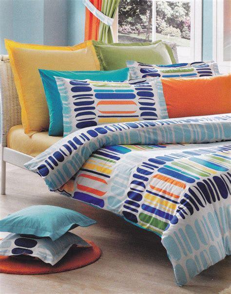 Bedcover Set Katun Polos Blue Grey custom bedding or navy from myveralinen on