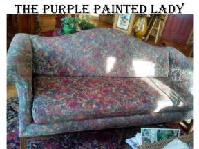 chalk paint on leather the purple painted