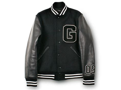 jaket kulit varsity black goodenough varsity jacket highsnobiety