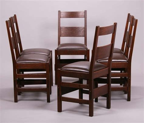 set of 6 stickley brothers dining chairs california