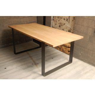 table bois massif pattes de m 233 tal d 233 co salon