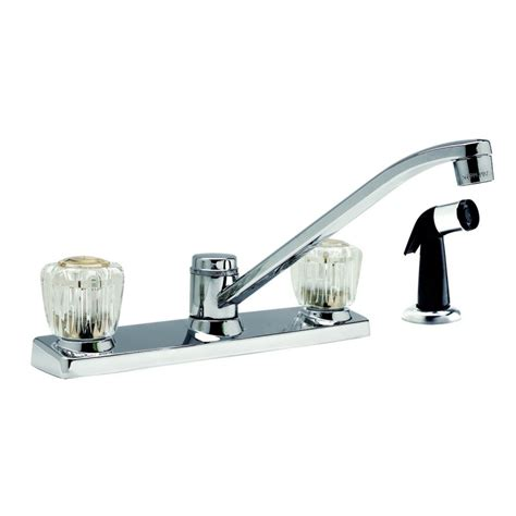 design house kitchen faucets design house 545400 millbridge polished chrome 2 handle kitchen faucets