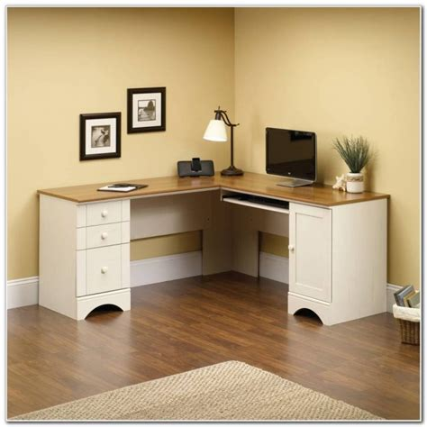 sauder harbor view computer desk antiqued white finish sauder harbor view corner computer desk antiqued white
