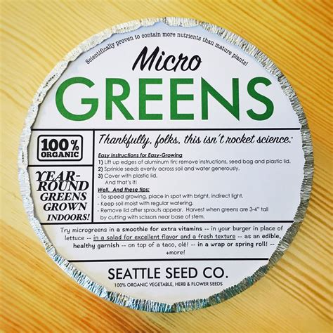 Starter Kit Microgreens organic microgreens starter kit for the gardener