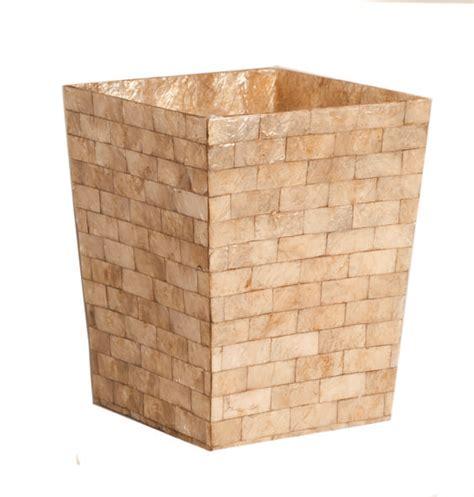 capiz bathroom accessories capiz bath accessory gbrk waste basket gold brick by