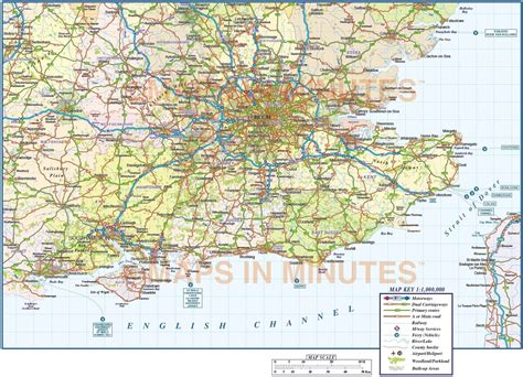 east road map vector south east map county political road and