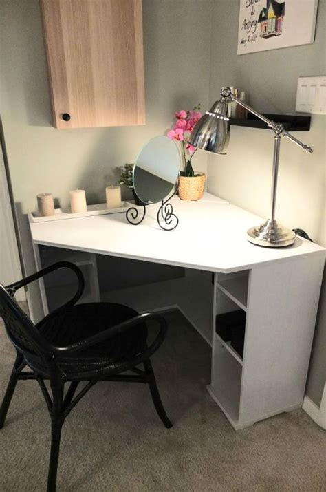 Corner Vanity Desk Best 25 White Corner Desk Ideas On At Home Office Ideas Study Desk And Small