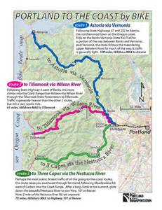 portland to the coast routes recreational bicycling