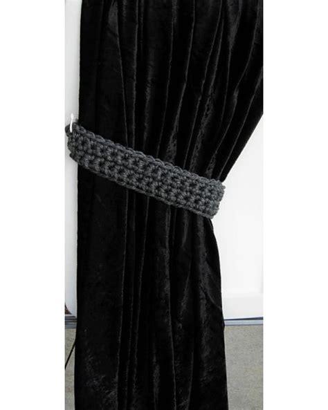 grey curtain tie backs dark gray grey curtain tie backs crochet tiebacks
