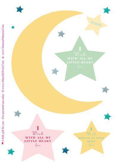 wishes stars moons  printable treat diy