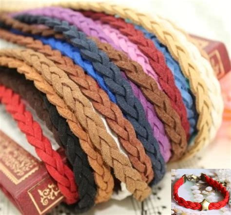 Meteran Plat Tekiro 5 Meter X 19 Mm Measurement aliexpress buy 8 colors lot 5mmx24m 78ft braid suede cord faux leather string lace