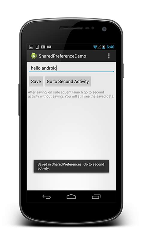 shared preference android android sharedpreferences tutorial and exle android open tutorials