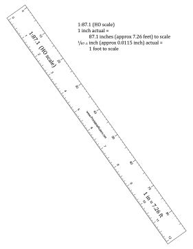 printable scale ruler 1 150 hobbyist ho scale ruler printable ruler