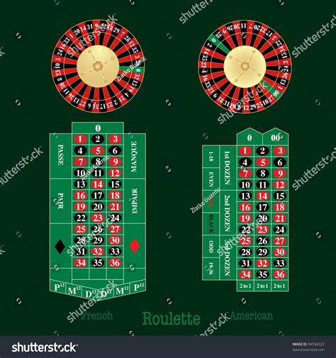 roulette layout vector vector layout of french and american roulette table and