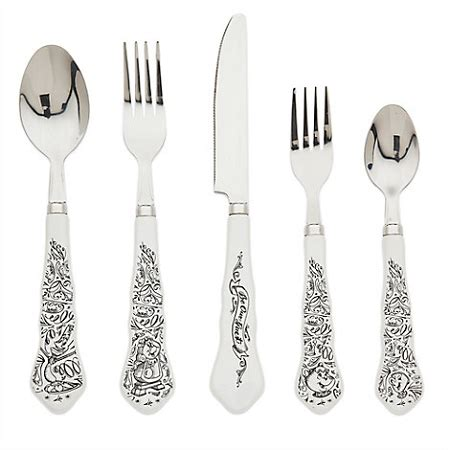 disney flatware disney flatware set be our guest and the beast