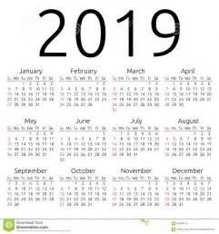 Calendario 2018 Vector Español Calendario 2019 Domingo Vector Ilustraci 243 N Vector