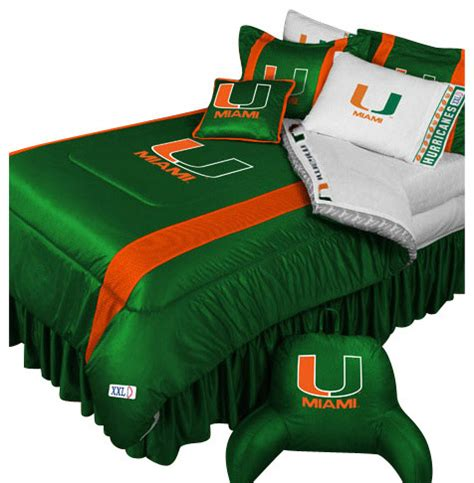 College Football Bedding Sets Store51 Llc Ncaa Miami Hurricanes Bedding Set College Football Bedding Set View In Your Room