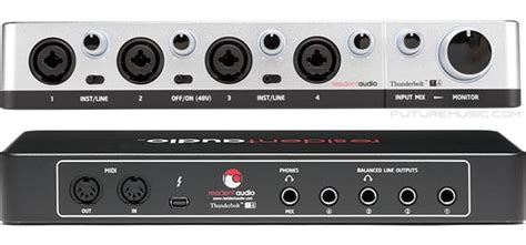 Resident Audio T4 resident audio premiers t4 four channel thunderbolt audio interface futuremusic the