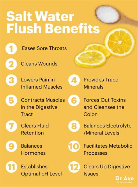Benefits Of In Detox Water by Benefits Of A Salt Water Flush Including Detoxing