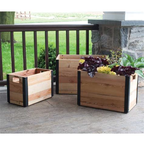 Provence Planters by Provence Wood Planter Set Of 3 Pride Garden Products