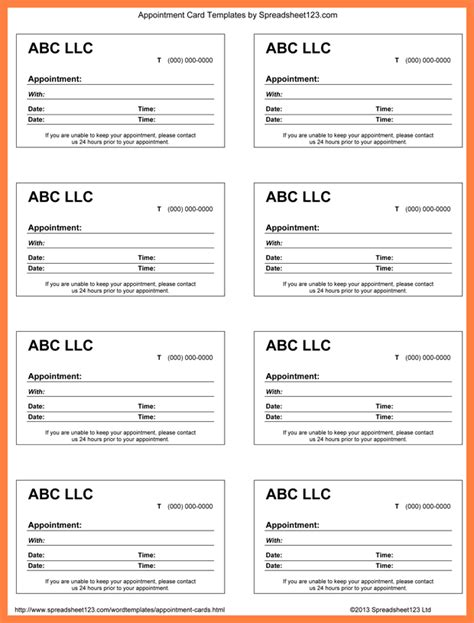 7 Appointment Slip Templates Salary Slip Doctor Appointment Slip Template