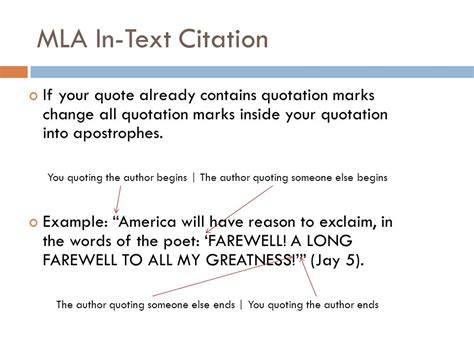 apa format quotation marks and periods mla formatting and citation ppt video online download