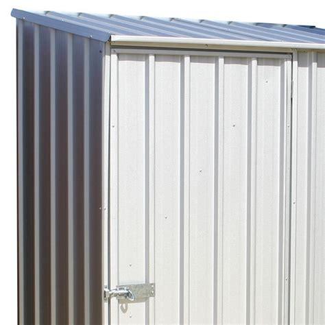 mercia space saver metal shed zinc finish garden