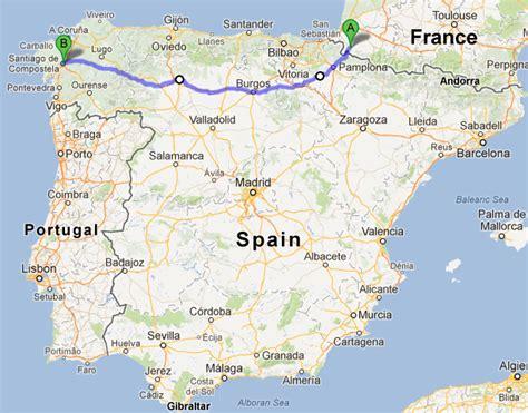camino way map the beginning far lands camino de santiago